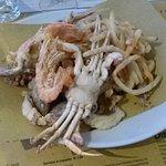 Gran fritto di pesce dell'Adriatico