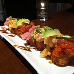 spicy tuna crispy rice sampler