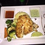 Coconut encrusted fish