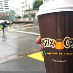 Philz coffe on a cold morning.