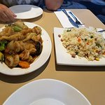 Prawn and Mushrooms with Fried Rice