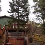 Cabin #7 and its hot tub