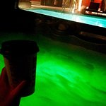 Hot cocoa and hot tub!
