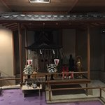 """Small museum at 2F with a """"jinja"""" (shrine)"""