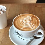 Amazing coffee, friendly staff and perfect atmosphere for a morning coffee!
