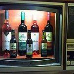 Our wines placed in a vintage television
