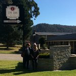 My best friend and I, in front of The Zig Zag Motel Lithgow. One of the kind staff took this.