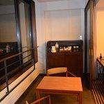 espace loggia/terrasse chambre deluxe
