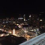 night view from balcony of skyline corner balcony room
