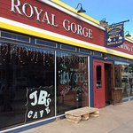 Unique kitschy interior & old school bar. Exterior fits in with historic Main Street Cañon City