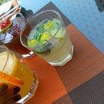 Pomegranate, Orange & Ginger, Mint & Lemon lemonade