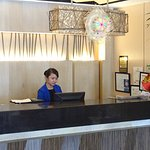 Reception with very helpful receptionist Ms. ANA -
