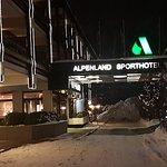 Entrance on a snowy night Jan 2017