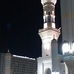 As seen from Masjid un Nabawi courtyard.