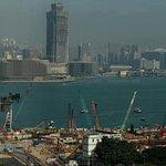 W Marriott Hotel Hong Kong: Corner Suite - view of Victoria Harbour