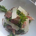 Salade, Jambon et copeau de parmesan
