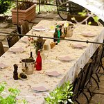 Piazza at Casa Ombuto cooking school in Tuscany