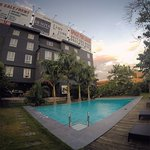 The secluded pool at the Henry Hotel.