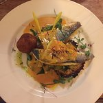 The amazing sea bass from the special board