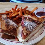 Monte Cristo on Raspberry Bread
