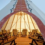 Gather in one of our teepees on property! Some include fire pits as well!