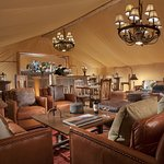 Interior of our Creekside Tent Bar