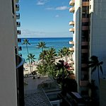 """View from our balcony in our """"city view"""" room"""