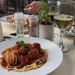Lamb Meatballs and Spaghetti