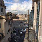 This is what I saw when I looked to the right out my window. Piazza del Popolo.
