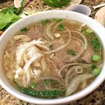 (3D) Pho Tai Sach: Pho with sliced beef and tripe (Undressed)