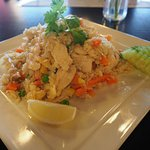 """Thai Fried Rice with Chicken"" classic Thai dish easy eating good for everyone"