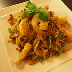 """Prawn Mee Goreng"" cooked with fresh egg noodle and yellow curry powder...must try"