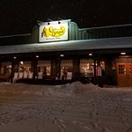 Good place for a warm meal on a cold and snowy night.