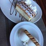 Vanilla slice & ice cream