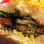 Vegan Soy Burger & Chips