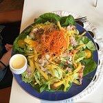 Lobster salad & ensalada chicken! Delicious