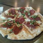 monthly featured pizza, with pecans and green onions