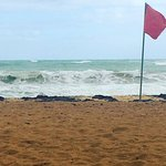 Let the traveler beware! Strong winds and violent waves have caused significant beach erosion at