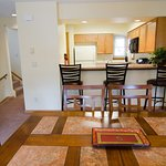 Three Bedroom Condo dining and kitchen area.