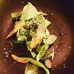 Zucchini flowers w charred baby zucchini, parsley, basil & preserved lemon - amazing