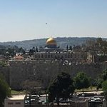 Fantastic view from the room & balcony over the old city & Al Aqsa