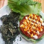 Raw Vegan Burger - Kimchi!