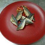Filets de maquereaux juste férés et mini ratatouille