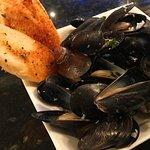 Hush puppies, calamari and mussels
