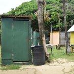 Douche extérieure pour ceux qui ne l'ont pas dans le bungalow