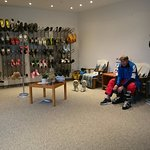 Ski-Raum mit Teppich