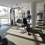 Pelican Beach Resort fitness center located in Conference Center Lobby.