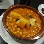Bar Jerez - Garbanzos con bacalao.
