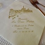 Beverage napkin from the Brasserie