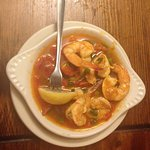 Red Pepper Shrimp (served with fresh bread for all that wonderful, spicy sauce)